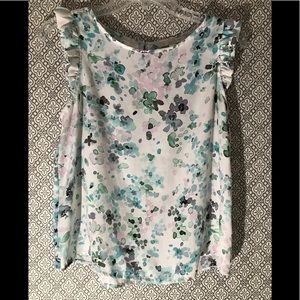 Lauren Conrad ruffle sleeve blouse